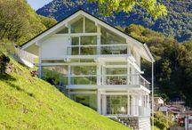 HUF Haus in bezaubernder Lage / Das weiße HUF Haus ART 3 im Tessin in der Schweiz, ein echter Hingucker!