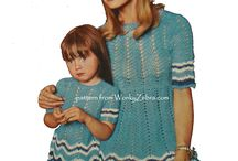 Mother and Daughter crochet patterns PDFs from WonkyZebra / PDF patterns