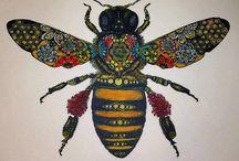abeilles et papillons