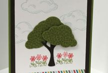 tree builder punch & sprinkles of life / Stampin up Stamp Sets quick & Easy cards using stampin up stamps and punches featuring many of your favourite stamp sets and punches, including sprinkles of life, wetlands, petite petals, lovely as a tree, painted petals, sheltering tree, butterfly basics etc.
