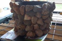 drewno i kamień