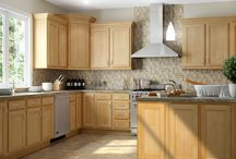 Mellowood Maple / Pictures of Kitchen Kompact's Flat Panel Cabinet Style, Mellowood Maple