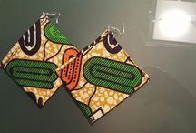 Ankara Wax Earrings