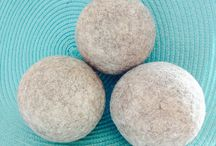 Windy Fleeces Woolery /  Windy Fleeces Dryer Balls are hand felted, no chemicals, no dyes....just natural, humanely raised wool from my niece's farm.  / by Holly Carnes