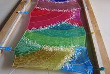 pintura seda con sal