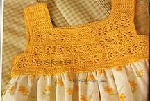 vestidos em crochet e tecido