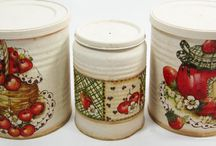 jars for the kitchen decoupage