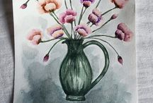 Aquarelle paintings made by me