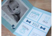Faire-part naissance / Des faire-part personnalisés pour la naissance de votre bébé.