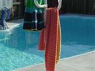 PVC towel rack / pool
