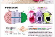 háčkované topánočky