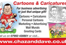 Chaz Cartoons for any occasion. / by Chaz & Dave designs ltd chazanddave.co.uk