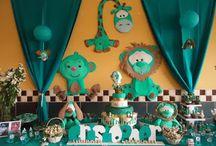 Baby shower niño animales / Linda temática de animalitos para celebrar la bienvenida de un bebe. Llámanos al 3163190898 en Bogotá y cotiza tu evento