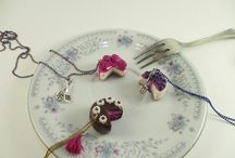 bon appetit / handmade polymer clay jewelry.  here you can find cake/cheese cake/chocolate/biscuit/lollipop necklaces, earrings and rings