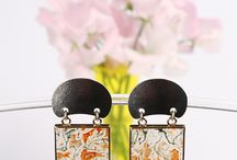 Earrings by The Jewelry Story / Handcrafted one of a kind earrings by TheJewelryStory