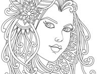 Fantasy Coloring Pages / Adults Coloring Book, Printable Coloring Pages, Coloring Book for Adults, Instant Download- from Stress Relief Coloring App