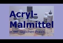 Acryl malutensilien