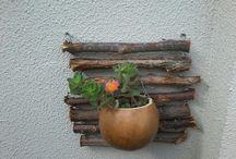 Jardins, arranjos artesanais e outros