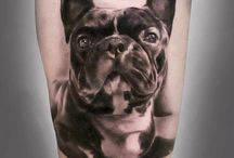 French Bulldog Tatoos