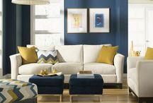 kék-sárga lakás