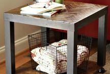 Lite ikeabord / Oppussing av IKEA lite lack bord