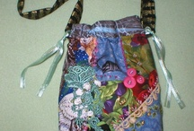 Textile bags and purses / Crazy quilt, quilted, crochet