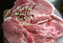 Eileen's easy fall pork chops