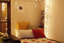 Canopies / Canopy over bed with lights