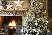 Christmas decorations - white/blue/silver / Inspirations for DIY