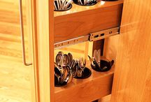 storage for cutlery next to oven