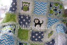 baby boy rag quilt