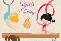Gymnastics Party ideas / Mias party ideas