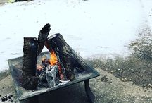 Fire Pit Ideas / Best Fire Pit Ideas, Cinder Block, Alumunium, Backyard Design, Gas, Propane, Brick.