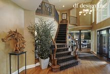 Foyers & Staircases by DF Design, Inc. / Entrances to the home and staircases designed by Dennis Frankowski, Interior Designer for DF Design, Inc.