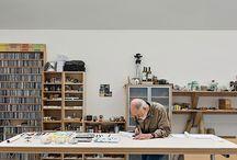 studio spaces | creative ways to organize