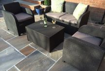 Patio Furniture Set Rattan Garden Outdoor Balcony Seat Sofa Arm Chairs Cushions