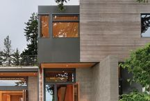 Wood and Stucco