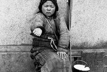 Chiny na czarno-białej fotografii