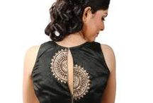 black embroidery  blouse back