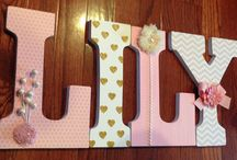 Letra decorativa Menina