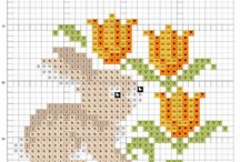 Easter cross stitching