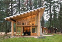 wooden cabins for land