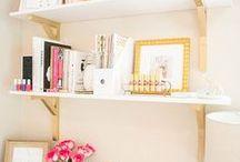 Home office decoração / Cantinhos de inspiração, home office, escritório no quarto, decoração