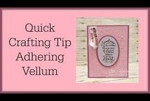Crafting Tips for Cards or Scrapbooking