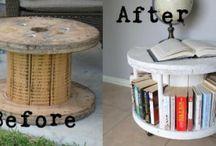 Återanvända material till möbler