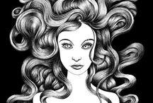 dessin pratique - cheveux