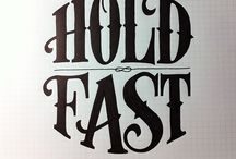 Typography_Hand lettering / Hand lettered type