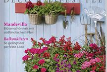 Sommerdeko für Balkon und Terrasse / Spanisches Temperament für mehr mediterranes Flair, Balkonbepflanzung in Blau und Gelb für sonnige Stunden, aufregende Kräuter- und Gemüseideen für den Minigarten oder kreative Tischdeko für das Grillfest – unsere Mai/Juni-Ausgabe hat garantiert für jeden Geschmack den passenden Deko- und Rezepttipp!