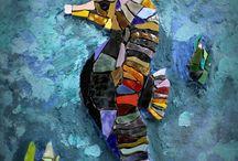 Students mosaic / Работы учеников Школы Мозаики