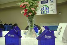 """Raise The Roof / Habitat for Humanity Sumner County hosted the Creekside Homes """"Raise the Roof"""" Breakfast on Thursday, May 1, 2014 in conjunction with the National  Day of Prayer. Centerpieces were crafted from objects found at the ReStore."""